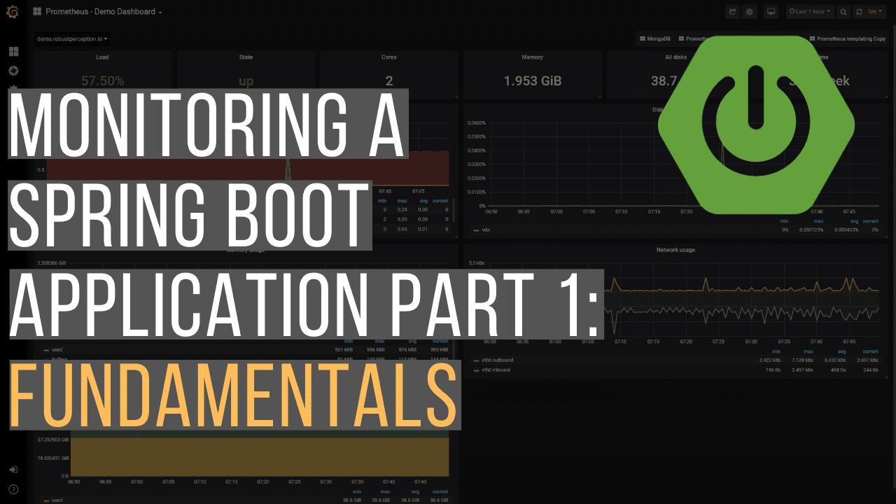 Monitoring a spring boot application fundamentals