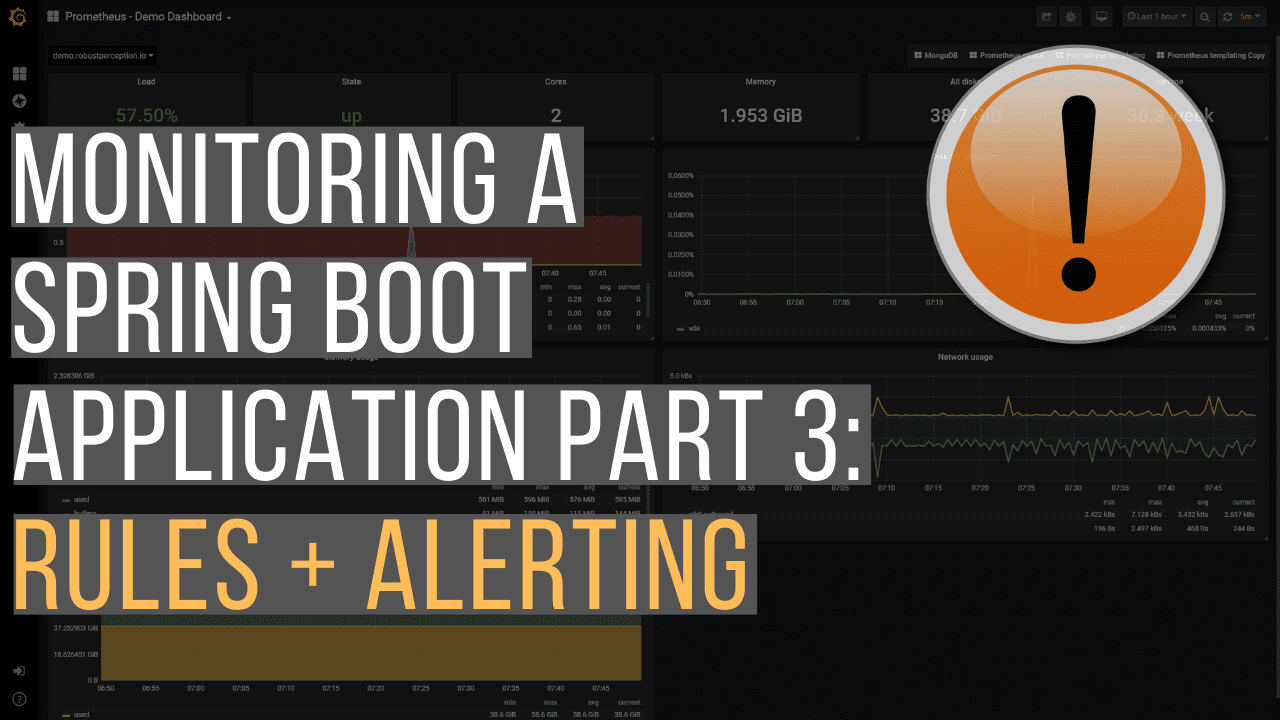 Monitoring A Spring Boot Application, Part 3: Rules & Alerting