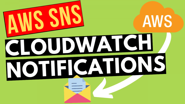 AWS SNS for CloudWatch alarm email notifications