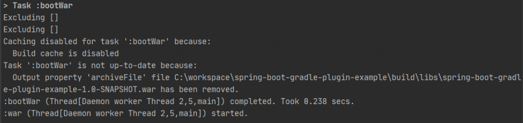 Spring Boot Gradle plugin