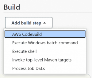 CodeBuild integration in a freestyle Jenkins job