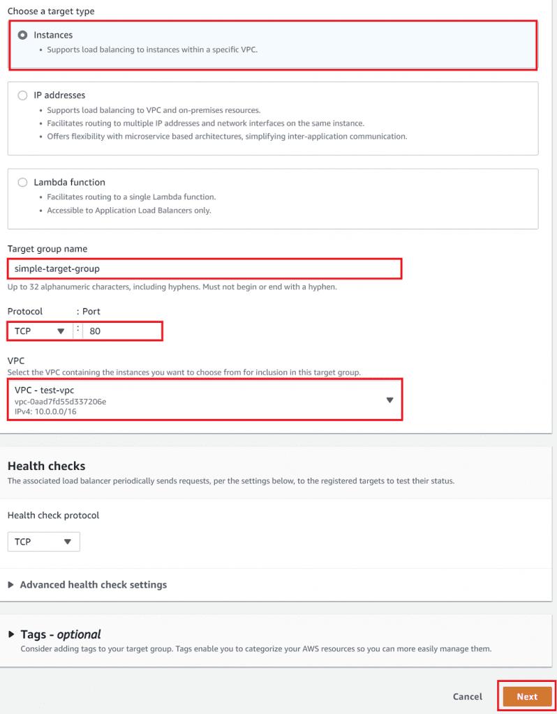 Target group details
