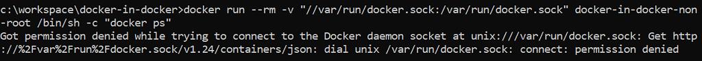 Permission denied error accessing /var/run/docker.sock as a non-root user