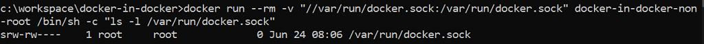 Permissions of /var/run/docker.sock