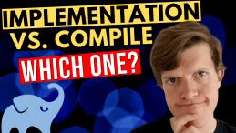 Gradle implementation vs. compile